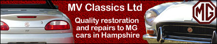 MV Classic Ltd - quality restoration and repairs to MG cars in Hampshire